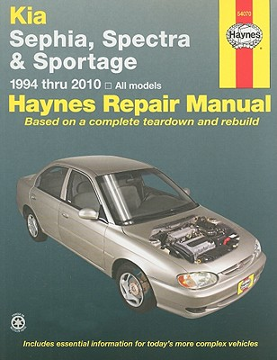 Haynes Repair Manual Kia Spectra/Sephia/sportage 1994 Thru 2010 By Haynes, J. J.